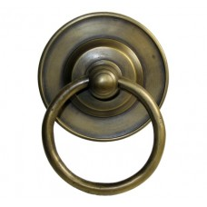 Round Ring w/ Round Tiered Backplate Ring Pull - Antique Brass (HRP1018) by Gado Gado