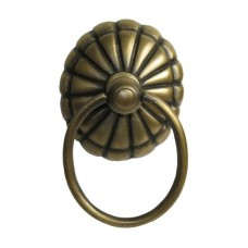 Round Ring w/ Melon Backplate Ring Pull - Antique Brass (HRP2012) by Gado Gado