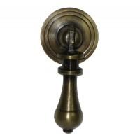 Carved Teardrop w/ Round Backplate Teardrop Pull - Custom Finishes (HTP1014) by Gado Gado
