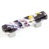 Amethyst Ice Chunky Drawer Pull (AI3) by Grace White Glass