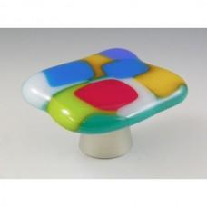 ColorForms Organic Cabinet Knob (CFA) by Grace White Glass