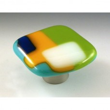 ColorForms Organic Cabinet Knob (CFB) by Grace White Glass
