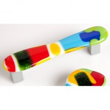 ColorForms Organic Drawer Pull (CFD4) by Grace White Glass