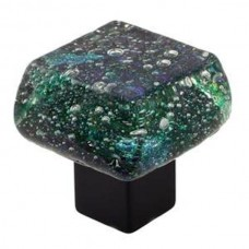 Dancing Water Dichroic Chunky Cabinet Knob (DWd-PL) by Grace White Glass