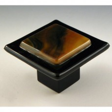Earth Elements Square Cabinet Knob (EE1) by Grace White Glass