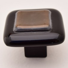 Firelight Square Cabinet Knob (FL1) by Grace White Glass