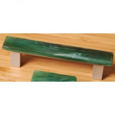 Irish Mist Rectangular Drawer Pull (IM12) by Grace White Glass