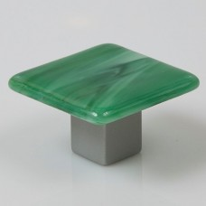 Irish Mist Square Cabinet Knob (IM3) by Grace White Glass