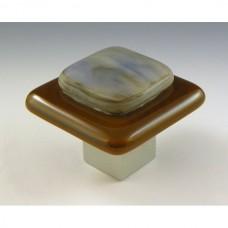 Kensington Square Cabinet Knob (KS1) by Grace White Glass