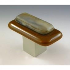 Kensington Rectangular Cabinet Knob (KS2) by Grace White Glass