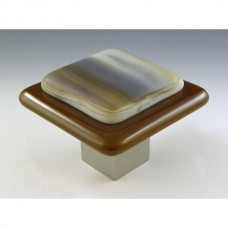 Kensington Square Cabinet Knob (KS3) by Grace White Glass