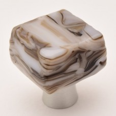 Kentstone Chunky Cabinet Knob (KSB) by Grace White Glass