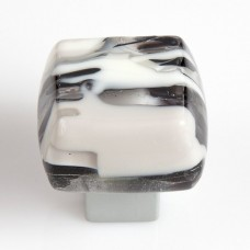 MussoStone Chunky Cabinet Knob (MUS) by Grace White Glass