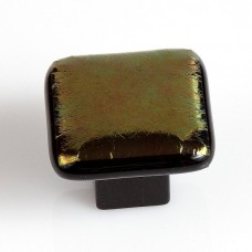 Mystic Blend Square Cabinet Knob (MYB) by Grace White Glass