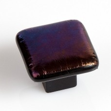 Mystic Blend Square Cabinet Knob (MYP) by Grace White Glass