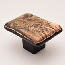BronzeFrost Rectangular Cabinet Knob (RBF3) by Grace White Glass