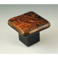 CopperFrost Square Cabinet Knob (RCF1) by Grace White Glass