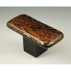 CopperFrost Rectangular Cabinet Knob (RCF2) by Grace White Glass