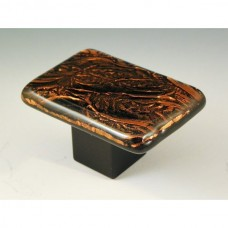 CopperFrost Rectangular Cabinet Knob (RCF3) by Grace White Glass