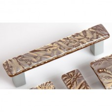 GoldFrost Rectangular Drawer Pull (RGF4) by Grace White Glass