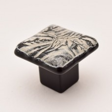 MoonFrost Square Cabinet Knob (RMF1) by Grace White Glass