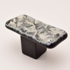 MoonFrost Rectangular Cabinet Knob (RMF2) by Grace White Glass