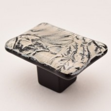 MoonFrost Rectangular Cabinet Knob (RMF3) by Grace White Glass