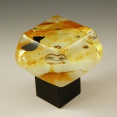 Rum Raisin Chunky Cabinet Knob (RRB) by Grace White Glass