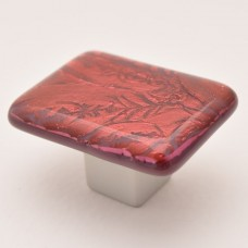 RoseFrost Rectangular Cabinet Knob (RRF3) by Grace White Glass