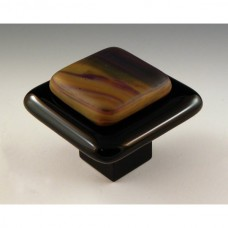 Resago Square Cabinet Knob (RS1) by Grace White Glass