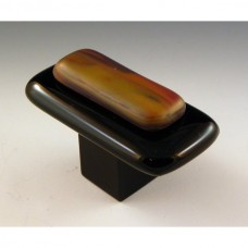 Resago Rectangular Cabinet Knob (RS2) by Grace White Glass