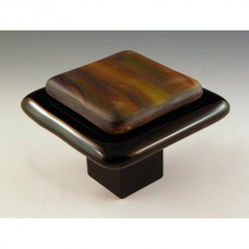 Resago Square Cabinet Knob (RS3) by Grace White Glass
