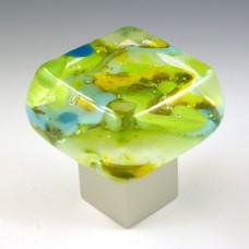 Springtime Chunky Cabinet Knob (SPR) by Grace White Glass