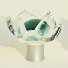 Tulip Organic Cabinet Knob (TUL-EM) by Grace White Glass