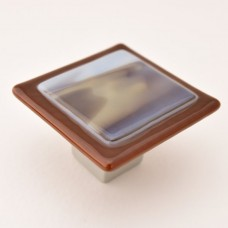 Wildwing Square Cabinet Knob (WW3) by Grace White Glass