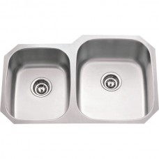 Undermount Stainless Steel Sink - Satin Stainless Steel - 32 x 20-5/8 x 9 (801R-18)