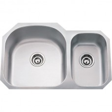 Undermount Stainless Steel Sink - Satin Stainless Steel - 31-1/2 x 20-1/2 x 9 (807L)