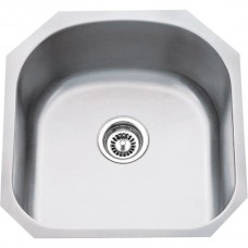 Undermount Stainless Steel Sink - Satin Stainless Steel - 19-3/4 x 20-1/2 x 9 (863)