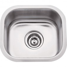 Undermount Stainless Steel Sink - Satin Stainless Steel - 14-1/2 x 13 x 7 (869)