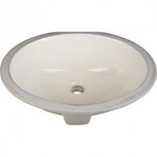 Undermount Oval Porcelain Sink - Parchment - 17-1/2 x 14-9/16 x 7 (H8809)