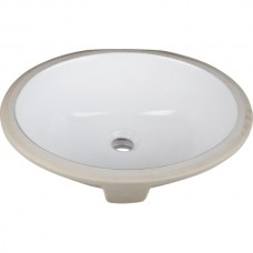 Undermount Oval Porcelain Sink - White - 17-1/2 x 14-9/16 x 7 (H8809WH)
