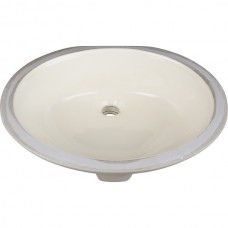 Undermount Oval Porcelain Sink - Parchment - 19-11/16 x 15-3/4 x 6-7/8 (H8810)