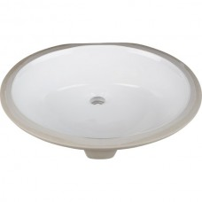 Undermount Oval Porcelain Sink - White - 19-11/16 x 15-3/4 x 6-7/8 (H8810WH)