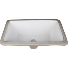Undermount Rectangular Porcelain Sink - White - 18-1/8 x 12 x 6-7/8 (H8909WH)