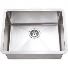 Undermount Stainless Steel Sink - Satin Stainless Steel - 23 x 18 x 10 (HMS175)