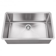 Undermount Stainless Steel Sink - Satin Stainless Steel - 32 x 19 x 10 (HMS200)