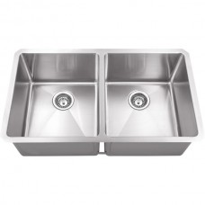Undermount Stainless Steel Sink - Satin Stainless Steel - 32 x 19 x 10 (HMS250)
