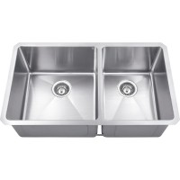 Undermount Stainless Steel Sink - Satin Stainless Steel - 32 x 19 x 10 (HMS260L)