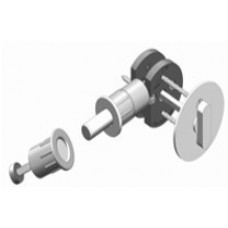 Round w/ TT16 T-Turn Barn Door Hardware Lock (EC1216) by Inox by Unison Hardware
