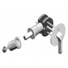 Round w/ TT17 ADA T-Turn Barn Door Hardware Lock (EC1217) by Inox by Unison Hardware